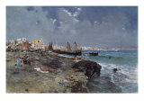 The Bay of Naples Giclee Print by Carlo Brancaccio