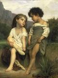 Les Jeunes Baigneuses, 1879 Posters par William Adolphe Bouguereau