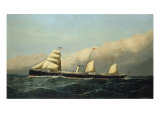 The Steam Ship Jan Breydel, 1882 Lámina giclée por Antonio Jacobsen