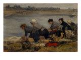 Laveuses au Bord de la Toucques,c.1885-90 Giclee Print by Eugène Boudin