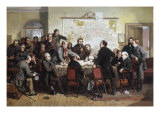A Vestry Meeting, Something Wrong with the Accounts Giclee Print by John Ritchie