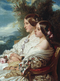 Queen Victoria and Victoire, Duchess de Nemours Poster by Franz Xavier Winterhalter