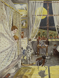 In der Kinderstube, Illustration, 1928 Giclee Print by Hans Baluschek