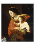 The Madonna and Child Kunst von Simon Vouet