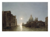 The Grand Canal by Moonlight Prints by Henry Pether