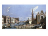 A View of the Grand Canal, Venice, from Santa Maria della Carita to the Bacino di San Marco Giclee Print by William James
