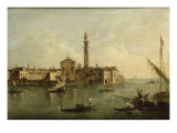 Venice, the Island of San Secondo Giclee Print by Giacomo Guardi