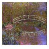 Le Pont Japonais Dans le Jardin de Monet 高品質プリント : クロード・モネ