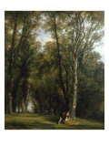 A Picnic in the Park Print by Thomas Creswick