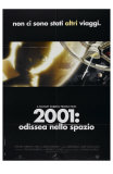 2001: A Space Odyssey, Italian Movie Poster, 1968 Print