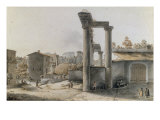 View of the Forum, Rome Giclee Print by Victor Jean Nicolle