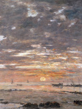 Maree Basse, Soleil Couchant, 1883 Art by Eugene Boudin