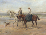 Riders on the Shore Giclee Print by Heywood Hardy