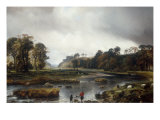 A View of the Park of Seaton, Scotland, 1840 Giclee Print by Theodore Gudin