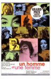 A Man and a Woman, French Movie Poster, 1966 Posters