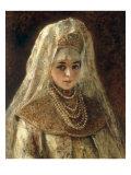 A Girl in a Boyar Costume Giclee Print by Konstantin Egorovich Makovsky