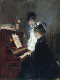 At the Piano Giclee Print by Luis Franco y Salinas