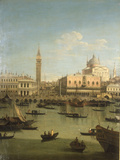 A Capriccio View of the Piazzetta with the Church of Il Redentore Art by  Canaletto