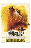 Lawrence of Arabia, French Movie Poster, 1963 Lámina