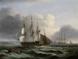 Portsmouth from Spithead Poster by Thomas Luny