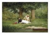 The Flirtation, 1885 Posters by Georges Croegaert