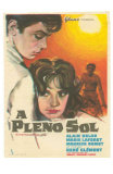 Purple Noon, Spanish Movie Poster, 1964 Posters