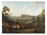 William III at the Seige of Namur, 1695 Reproduction procédé giclée par Constantyn Francken