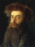 Portrait of a Rabbi Impresso gicle por Isidor Kaufmann