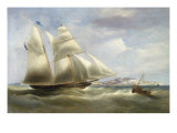 A Schooner off Dover, 1834 Giclee Print by William John Huggins