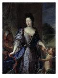 Princesse Elizabeth Charlotte d'Orleans as Venus, about to Bind Cupid's Wings Posters by Pierre Gobert