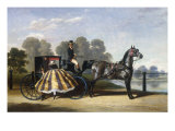 Entering a Coach in a Lakeside Park Posters by Alfred Frank De Prades