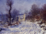Route de Giverny en Hiver, 1885 Giclee Print by Claude Monet