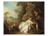Conversation Galante Giclee Print by Jean-Baptiste Pater