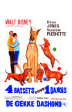 The Ugly Dachshund, Belgian Movie Poster, 1966 Plakater