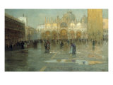 Piazza San Marco after the Rain, Venice, 1914 Giclee Print by Pietro Fragiacomo
