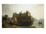 Conway Castle, North Wales Giclee Print by William Daniell
