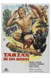 Tarzan The Ape Man, Spanish Movie Poster, 1932 Print