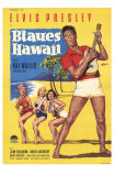 Blue Hawaii , German Movie Poster, 1961 Print