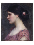 Portrait of a Girl Prints by John William Waterhouse