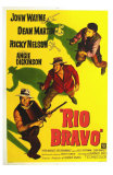 Rio Bravo, Australian Movie Poster, 1959 Print
