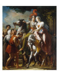 The Departure of Angelica and Medoro Giclee Print by Rene Theodore Berthon