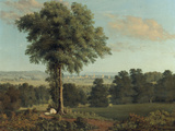 Landscape with a Distant View of Oxford Print by William Turner