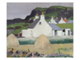 A Croft with Haystacks Giclee Print by Francis Campbell Boileau Cadell