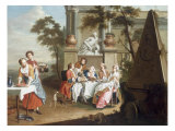 Elegant Figures Dining in the Grounds of a Palace, 1745 Giclee Print by Peter Jacob Horemans