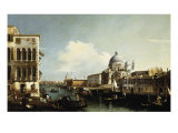 Venice, the Grand Canal: the Salute and Dogana from the Campo Sta Maria Zobenigo Poster by  Canaletto