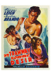 A Streetcar Named Desire, Belgian Movie Poster, 1951 Posters