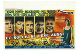 The Sun Also Rises, Belgian Movie Poster, 1957 Print