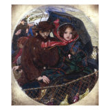 The Last of England, small version, c.1852 Prints by Ford Madox Brown
