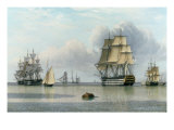 H.M.S. Britannia and Other Shipping in Calm Waters Posters by John Of Hull Ward