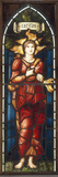 Caritas - A Stained Glass Window Giclee Print by Edward Coley Burne-Jones